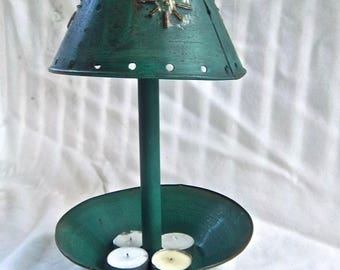 Vintage Candle Light Lamp Vintage Punched Tin Vintage Import Indoor Outdoor Candle Lamp Home and Living Table Decor Centerpiece Candle Decor