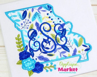 Machine Embroidery Design Embroidery Missouri Flowers Applique INSTANT DOWNLOAD