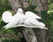 Vintage Burwood Doves, Rustic Cottage Farmhouse Decor, White Burwood Wall Plaque 2024, 1970s Home Decor, Made in USA, Resin Bird Wall Art