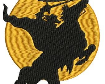 Zorro machine embroidery design