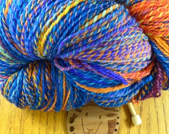 One of a Kind Handspun Wool Yarn! Sweater quantity!  32 ounces!  That's right!  TWO POUNDS!