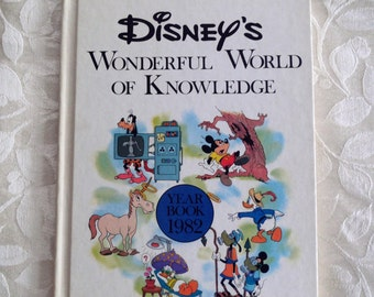 Disney's Wonderful World of Knowledge Yearbook 1982 Hardcover Children's Book