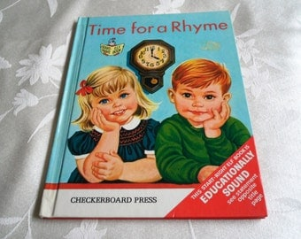 Time for a Rhyme Checkerboard Press  Elf Book by Ellen Wilkie 1966