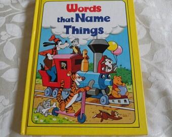 Walt Disney Words That Name Things Vintage Hardcover Book