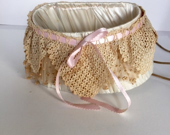 French Lace & Satin Bed Light