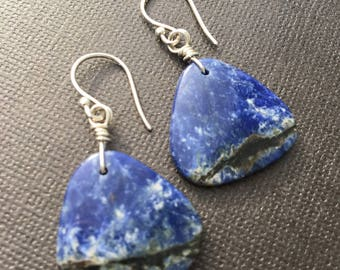 Sodalite- Blue Stone Earrings- One of a Kind