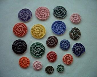 19PW - NAUTILUS Stamped Tiles - Ceramic Mosaic Tiles