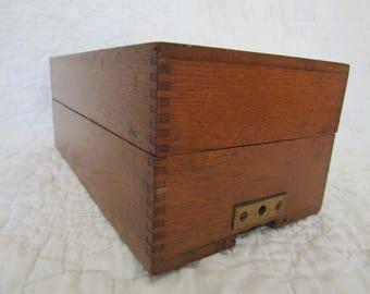 Vintage Oak Filing Drawer Dovetail Corners SALE