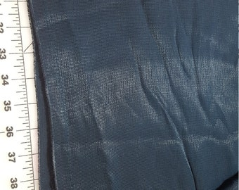 Very Dark Hunter Green Textured Rayon blend Silky just over 2yd