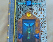 Jewelry box, book box, storage, butterfly, moth, blue door