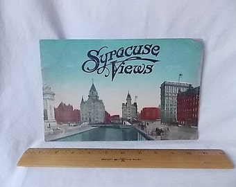 Vintage 1913 Syracuse NY Views Photo Booklet Streets People Parks +