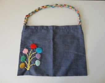 VINTAGE handmade fabric MARKET beach pool BAG
