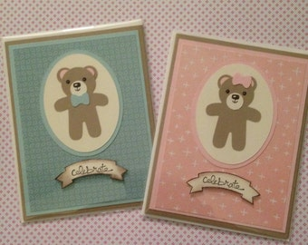 Celebrate baby, boy or girl card with envelope