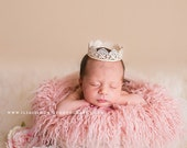 RTS Hypoallergenic & Washable Peony Pink Sheep Faux Flokati Fur Newborn Photo Props, Artificial Fur, Baby Girl Props, BasKet StuFfeR