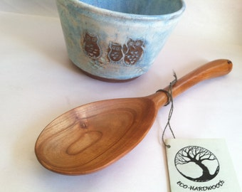 Reclaimed CHERRY Beautiful CRAFTED by HAND  Serving Spoon