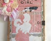 Vintage Book Cover Journal - Art Journal - Scrapbook - Garden Journal - Ephemera - Travel Journal - Salvage Book Cover