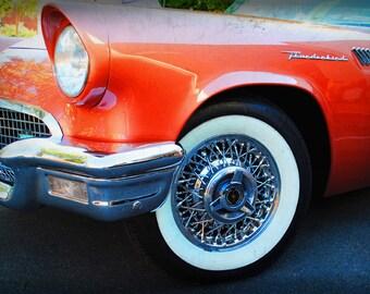 1957 Ford Thunderbird - Classic Car - Garage Art - Pop Art - Fine Art Photograph