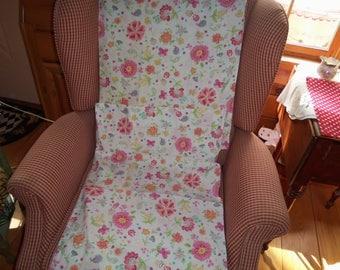 Older Pillowcases Pottery Barn kids floral Mod Standard Mint Pocket butterflys