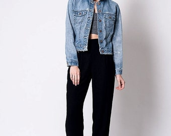 30% OFF HOLIDAY SALE The Vintage Gap Perfectly Distressed Jean Jacket
