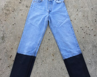The Vintage Levi's Wax Dipped High Waisted 701 Jeans WAIST 25