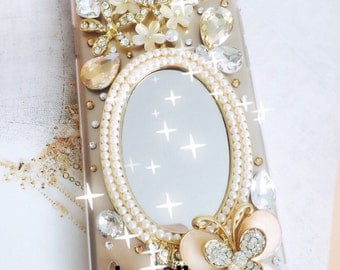 apple iphone 5, 6G 6 plus, 7 case, crystalized mirror iphone cover.