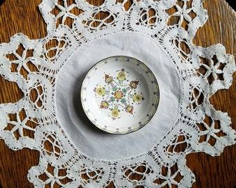 Vintage Austrian Enamel Folk Art Trinket Dish