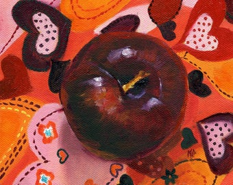Kitchen Decor, Still Life, Kitchen Art, Food Art, Plum Painting, Original painting, fruit still life, wall art,