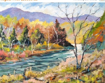 On Sale Laurentian Hills Original Oil Painting created by Prankearts