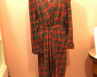Vintage State O Maine mens cotton,wool blend robe