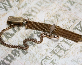 Vintage Vest Gold Filled Watch Chain Fob