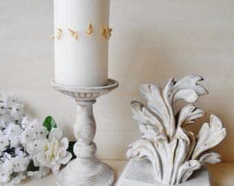 2 Piece Set Home Decor Instant Vignette Candle Holder & Flourish Shelf