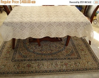 Holiday Sales 10% Off Brand New Handmade Crochet tablecloth-Doily Runner, Long Rectangle, Crochet Lace Bedroom Curtain, Unique Crochet