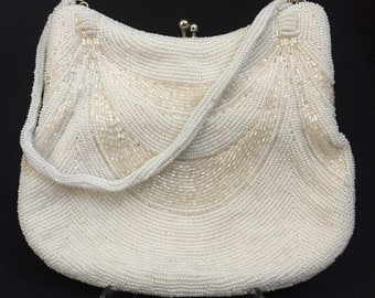 Vintage Beaded Purse with Coin Purse Closure