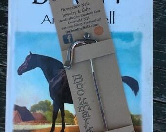 Horse Bookmark - Authentic Horseshoe Nail Bookmark - Great Gift Idea!