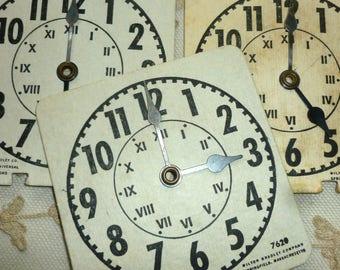 Vintage Clocks with Metal Hands
