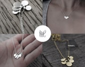 Sequins galore II multi silver or gold-plated discs necklace