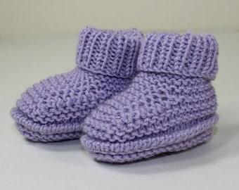 50% OFF SALE Instant Digital File pdf download knitting pattern Premature Baby Rib Cuff Booties knitting pattern