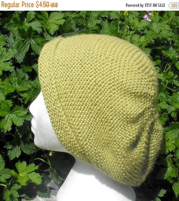 HALF PRICE SALE Instant digital file pdf download knitting pattern -Garter Stitch Slouch Hat  pdf knitting pattern