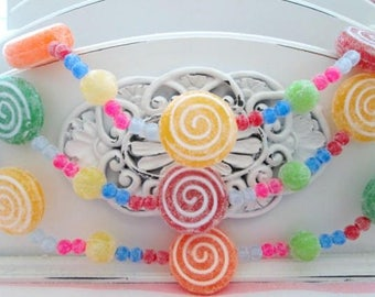 Miniature Sugary Candy Garland - 3 ft