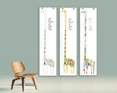 giraffe growth chart // have big dreams // canvas wall hanging // skel // skel design // skel & co