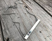Custom Order For Beth Sterling Silver Birthstone Necklace Handmade By Wild Prairie Silver Jewelry