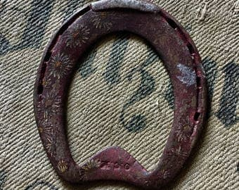 Antique Horse Shoe, fine work Forged Iron