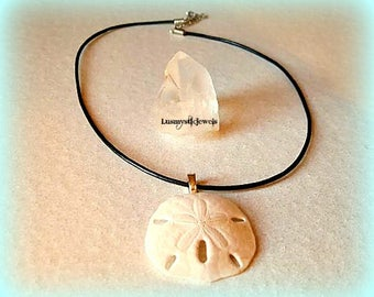 Natural Sea Necklace,Fossil Necklace,Sand Dollar Necklace, Summer Party,Bohemian Jewelry,Mermaid Necklace,Summer Outdoors,Mermaid Jewelry,