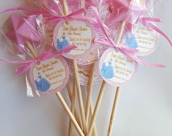 Princess Party Favors Princess Star Wands Royal Ball Party Favors Handmade Soap (20 complete favors with tags)