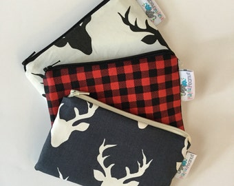 Reusable Snack Bag, Reusable Zipper Bag, Reusable Sandwich Bag, Zipper Pouch, Reusable, Buck Head Snack Bag, Lunch Bag, Reusable Bag