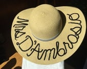 Custom made sun hat