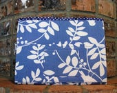 Blue and White  Magazine & Tract Bag, Tablet Sleeve, With Contact Card Pocket
