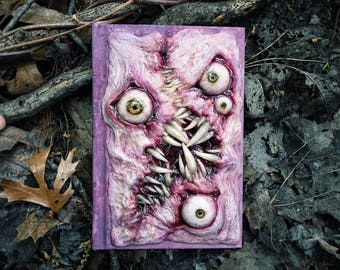 Small ooak blank sketchbook necronomicon ex mortis