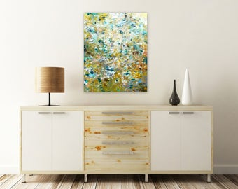 Original Abstract Painting - Abstract Impressionist Painting - Acrylic Painting - 20x24 Canvas Wall Art - Earth Tones Abstract - Modern Art