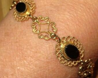 Beau Gold over Sterling Panel Bracelet